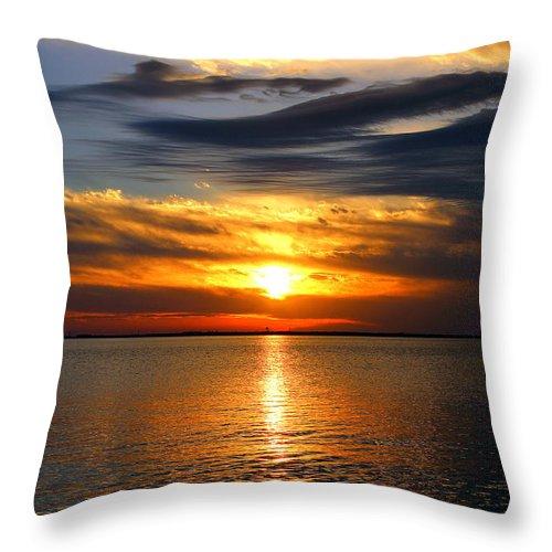 Sunset Throw Pillow featuring the photograph Golden Sun by Faith Williams