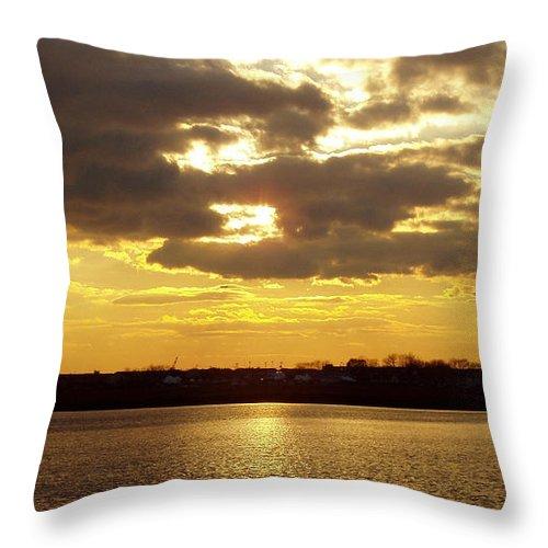 Golden Sunset Throw Pillow featuring the photograph Golden Sunset by John Telfer