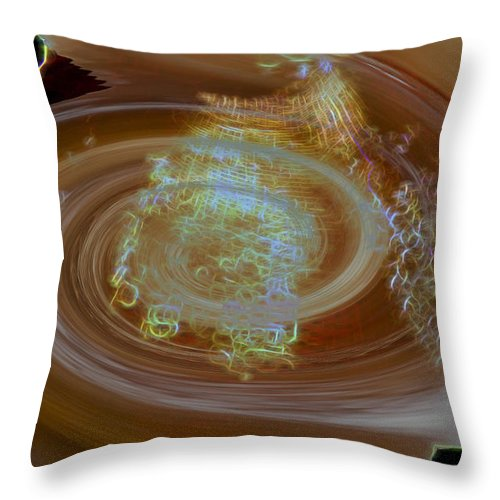 Throw Pillow featuring the digital art Golden Winter by Cathy Anderson