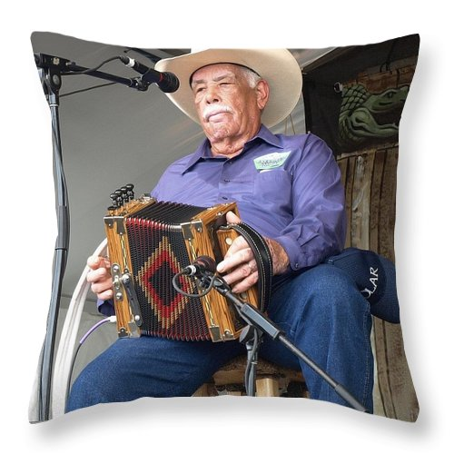Music Throw Pillow featuring the photograph Goldman Thibodeaux by William Morgan
