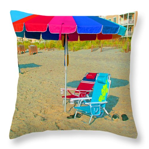Landscape Throw Pillow featuring the photograph Gonna Be A Hot One by Barbara McDevitt