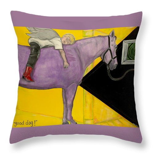 Horse Throw Pillow featuring the painting Good Dog by Darlene Graeser