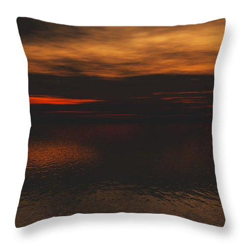 Morning Throw Pillow featuring the digital art Good Morning by J Riley Johnson
