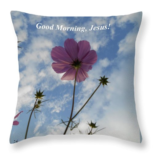 Good Morning Jesus Throw Pillow For Sale By Diannah Lynch