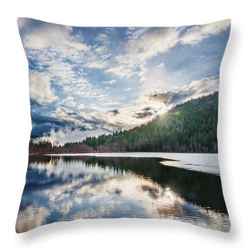 Beautiful Throw Pillow featuring the photograph Good Morning Pemberton by James Wheeler