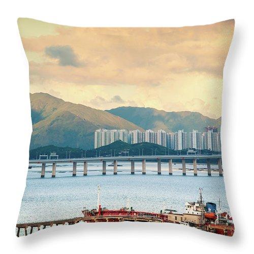 Outdoors Throw Pillow featuring the photograph Good Morning Shenzhen & Hong Kong by Capturing A Second In Life, Copyright Leonardo Correa Luna