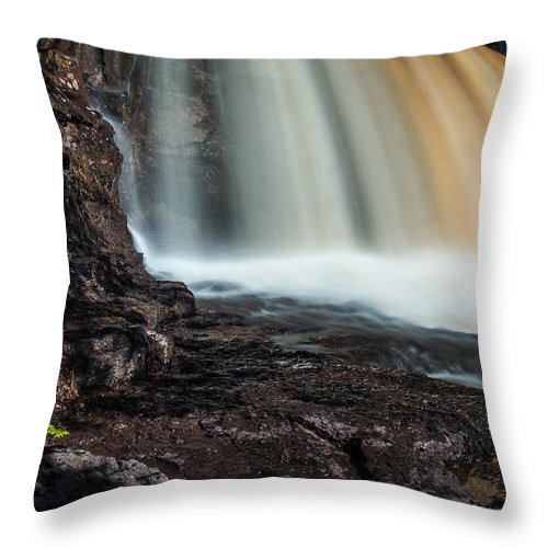 Gooseberry Falls Throw Pillow featuring the photograph Gooseberry Falls by Joan Wallner