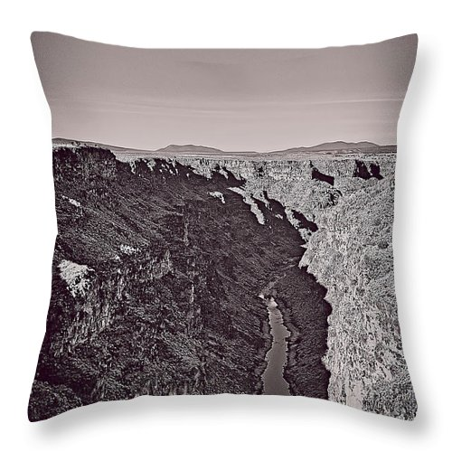 Rio Throw Pillow featuring the mixed media Gorge by Charles Muhle