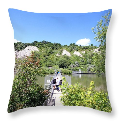 Blue Throw Pillow featuring the photograph Gorgeous Day At The Bluffs by Valentino Visentini
