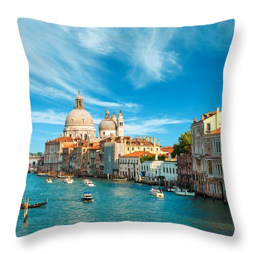 Architectural Throw Pillow featuring the photograph Gorgeous Venice by Gurgen Bakhshetsyan