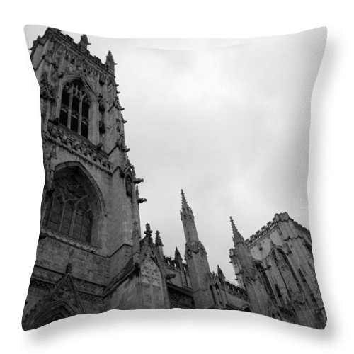 Church Throw Pillow featuring the photograph Gothic Appearance by Breanna Calkins