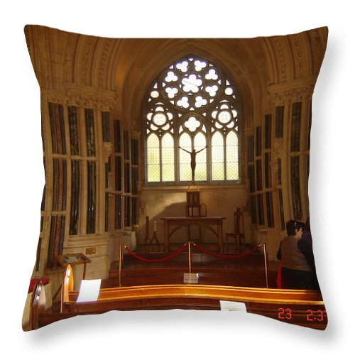 Gothic Throw Pillow featuring the photograph Gothic Church Kylemore Abbey by Martin Masterson
