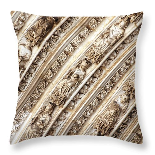 Photography Throw Pillow featuring the photograph Gothic Splendor by Ivy Ho