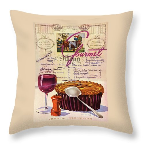 Gourmet Cover Illustration Of Deep Dish Pie Throw Pillow
