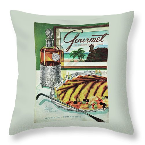 Gourmet Cover Of An Omelette Au Ruhm Throw Pillow