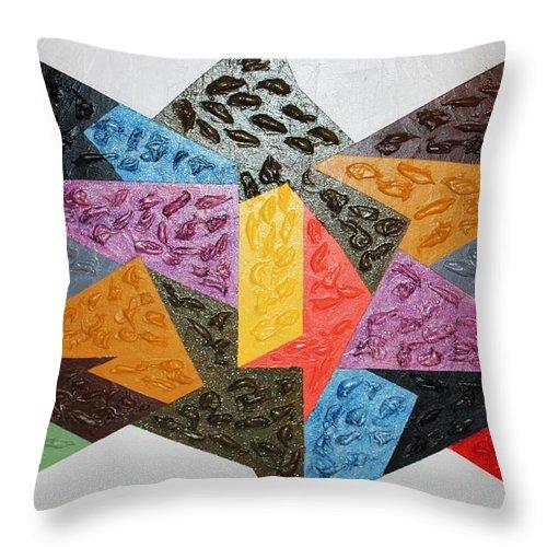 Art Throw Pillow featuring the mixed media Grace by Funmi Adeshina