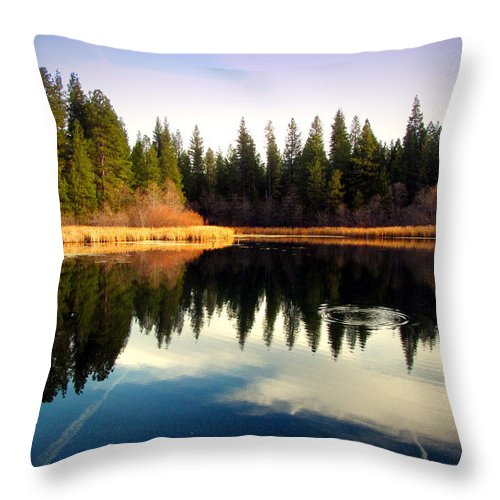 Lake Throw Pillow featuring the photograph Grace Lake Northern California by Joyce Dickens