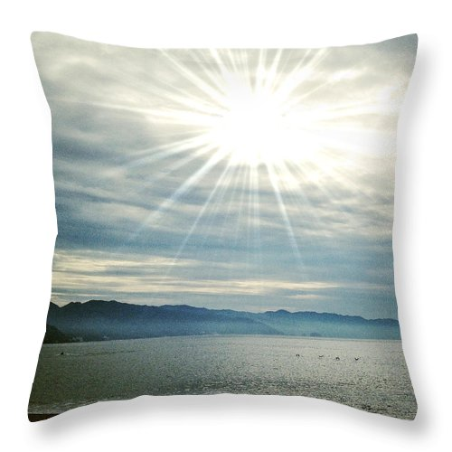Ocean Throw Pillow featuring the photograph Grace by Natasha Marco