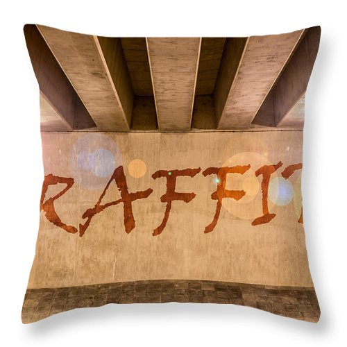Art Throw Pillow featuring the photograph Graffiti by Semmick Photo