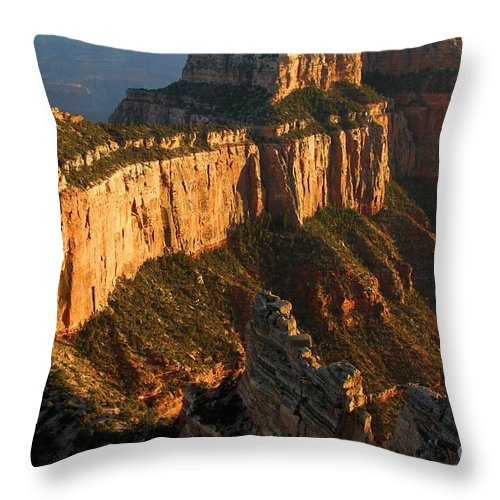 Grand Canyon Throw Pillow featuring the photograph Grand Canyon Cape Royal by Adam Jewell