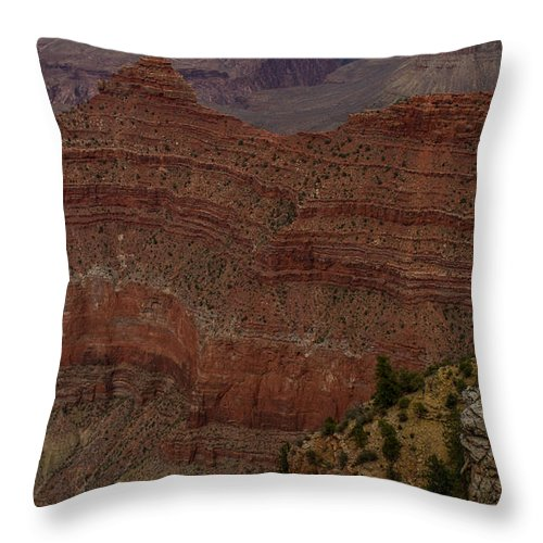 Peaks Throw Pillow featuring the photograph Grand Canyon by Kathleen Odenthal
