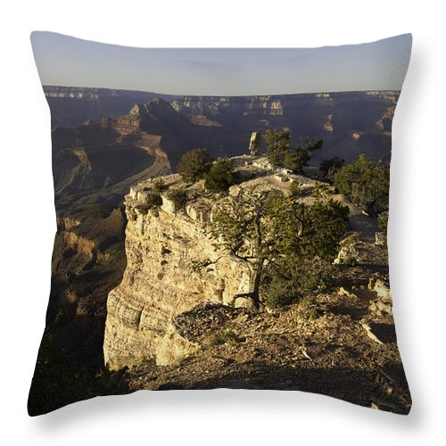 Grand Canyon Throw Pillow featuring the photograph Grand Canyon Outlook by Peter Lloyd