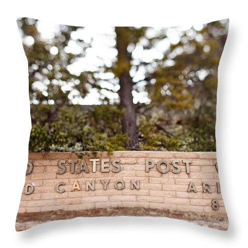 Usps Throw Pillow featuring the photograph Grand Canyon Post Office by Jake Holt