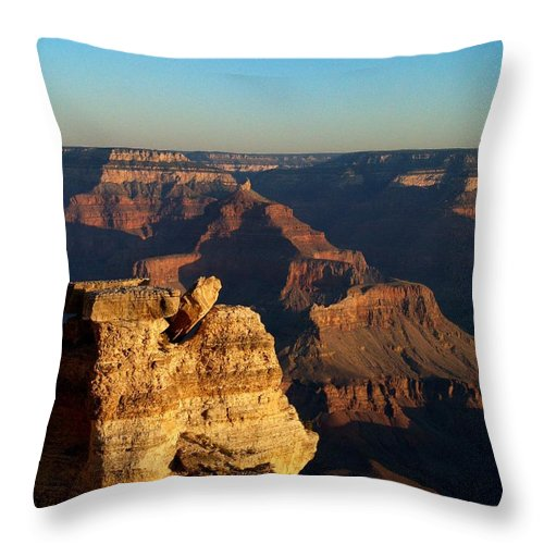 Grand Canyon Throw Pillow featuring the photograph Grand Canyon Sunrise Two by Joshua House