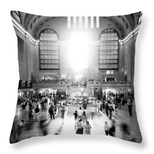 Grand Central Station Throw Pillow featuring the photograph Grand Central Station by Georgia Fowler