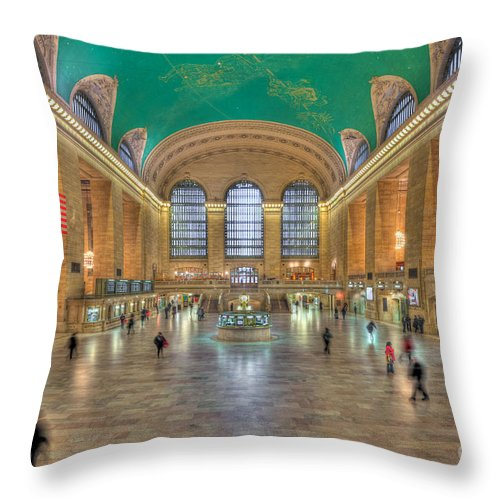 Clarence Holmes Throw Pillow featuring the photograph Grand Central Terminal IIi by Clarence Holmes