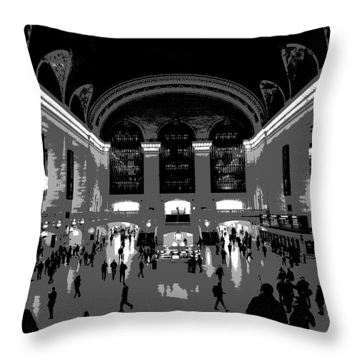 Grand Central Terminal Poster Throw Pillow featuring the photograph Grand Central Terminal Poster by Dan Sproul