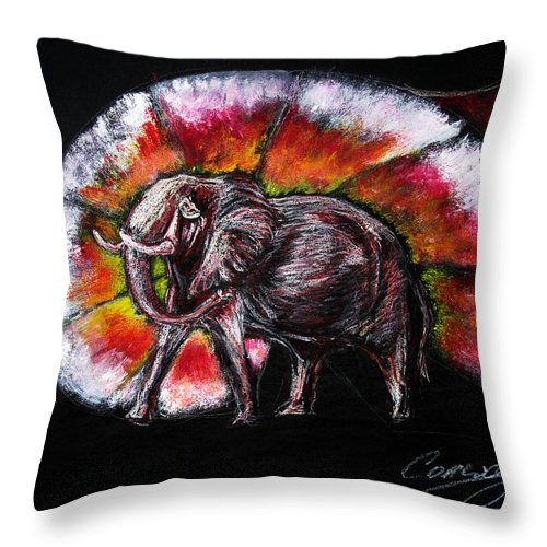 Wild Throw Pillow featuring the drawing Grand Designs For Life On Earth by Tom Conway