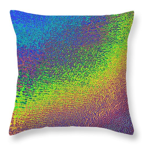 Grand Erg Oriental Throw Pillow featuring the digital art Grand Erg Oriental Map Art by Paul Hein