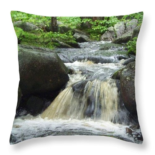 Grand Falls Throw Pillow featuring the photograph Grand Falls by Joseph Marquis