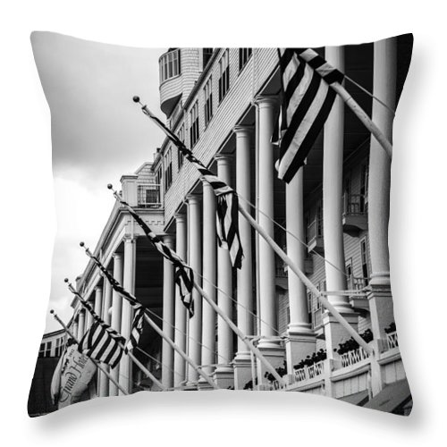 Grand Hotel Throw Pillow featuring the photograph Grand Hotel by Sheri Bartoszek