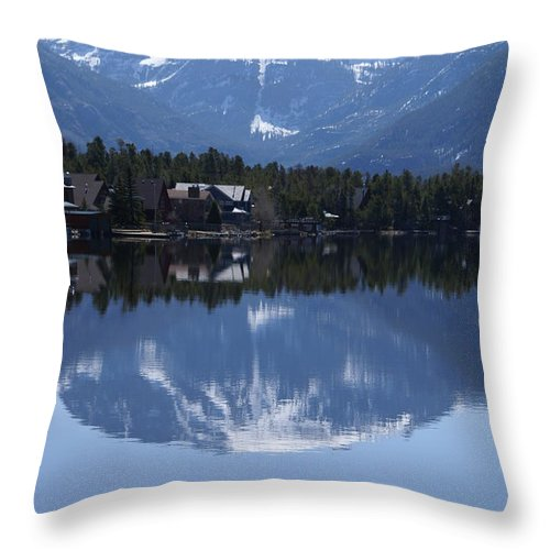 Grand Lake Co Throw Pillow featuring the photograph Grand Lake Co Mt Baldy Spring IIi by Jacqueline Russell