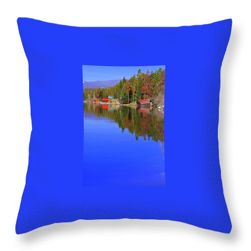 Grand Lake Throw Pillow featuring the photograph Grand Lake Spring II by Jacqueline Russell