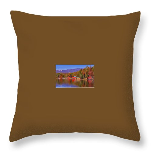 Grand Lake Co Throw Pillow featuring the photograph Grand Lake Spring IIi by Jacqueline Russell
