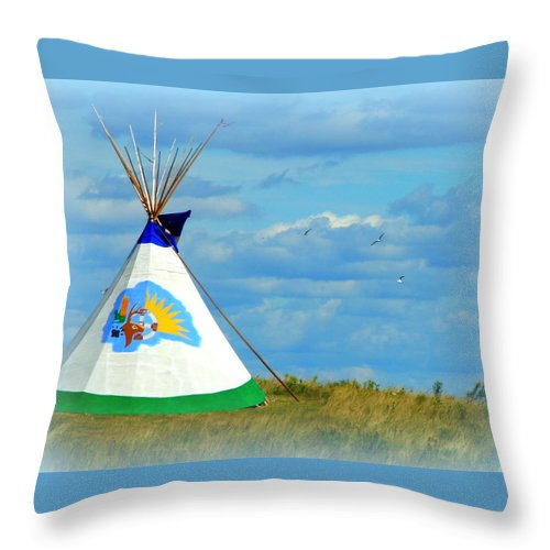 Indian Summer Throw Pillow featuring the photograph Grand Lodge by Kimberly Woyak