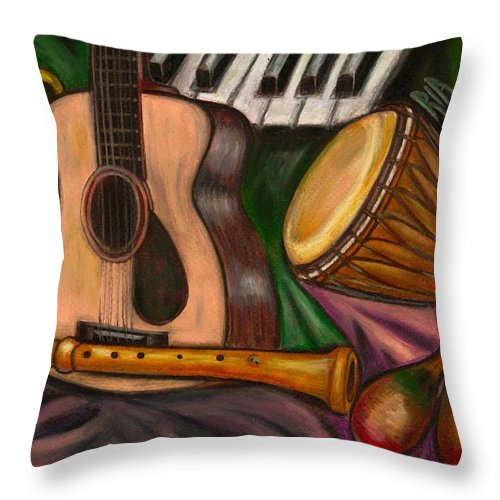 Music Throw Pillow featuring the photograph Grand POP by Artist RiA