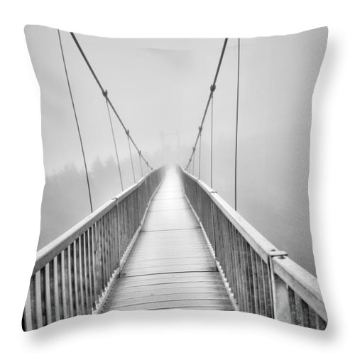 Grandfather Mountain Throw Pillow featuring the photograph Mile High Bridge #2 by Sonja Dover
