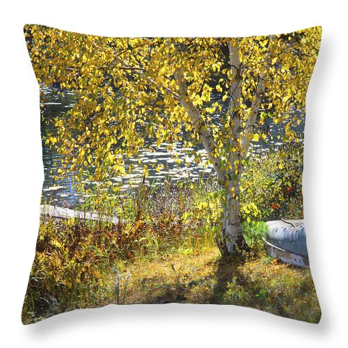 Wisconsin Throw Pillow featuring the photograph Grandpa's Place by Bruce Thompson