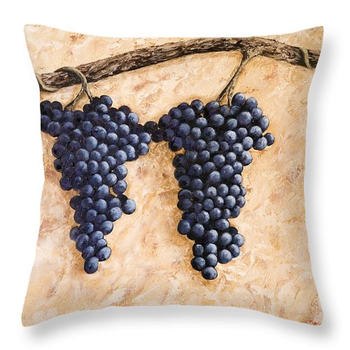 Grape Vine Throw Pillow featuring the painting Grape Vine by Darice Machel McGuire