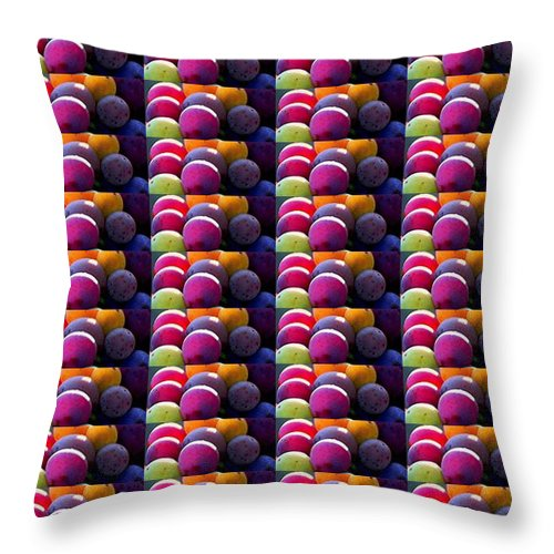 Grapes Show Throw Pillow featuring the photograph Grapes Fruit Pattern Health Background Designs And Color Tones N Color Shades Available For Downloa by Navin Joshi