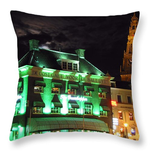 3scape Throw Pillow featuring the photograph Grasshopper Bar by Adam Romanowicz