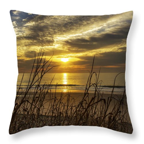 Sunrise Throw Pillow featuring the photograph Ocean Sunrise by Pat Walsh