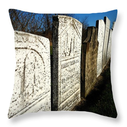 Grave Throw Pillow featuring the photograph Grave by Chloe Shackelton