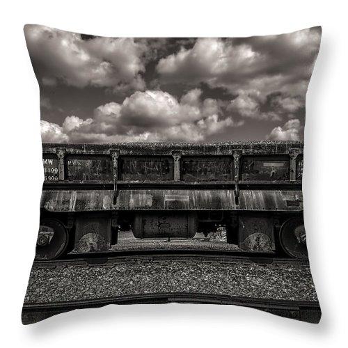 Train Throw Pillow featuring the photograph Gravel Train by Bob Orsillo