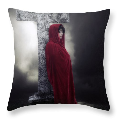 Woman Throw Pillow featuring the photograph Graveyard by Joana Kruse