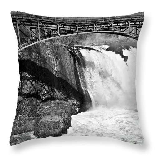 Great Falls Throw Pillow featuring the photograph Great Falls In Paterson Nj by Anthony Sacco